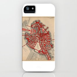 Boston Valentine, Anatomic Heart/Altered Map of Boston iPhone Case