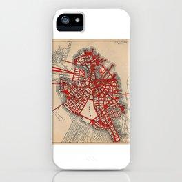 Boston Valentine, Anatomic Heart/Altered Map of Boston iPhone Case