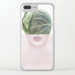 femme fatale, surrealisme, head, portrait, pastel Clear iPhone Case