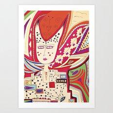 Dame Art Print