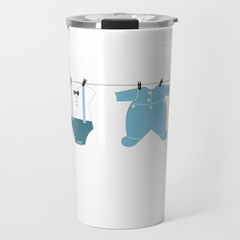 It's a boy. Welcome, baby arrival body suits Travel Mug