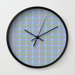 Circle and abstraction prehistoric pattern-,abstract,geometric,geometrical,circle,sphere Wall Clock