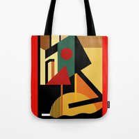 kandinsky Tote Bags featuring THE GEOMETRIST by THE USUAL DESIGNERS