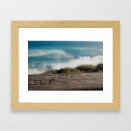 Wooden Carving Framed Art Print