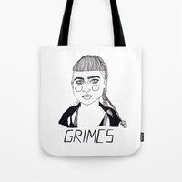 grimes Tote Bags featuring Grimes by ☿ cactei ☿