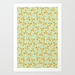 Yellow Gemstone Art Print
