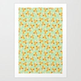 Yellow Gemstone Art Print