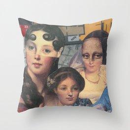 Suzette's Artist Throw Pillow