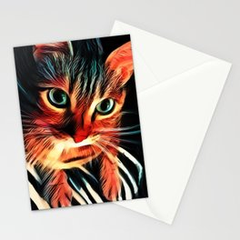 Cheshire Stripes Cat Stationery Cards