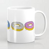 doughnut Mugs featuring Doughnut by PSHAWWHO