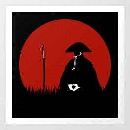 Meditating Samurai Warrior Art Print