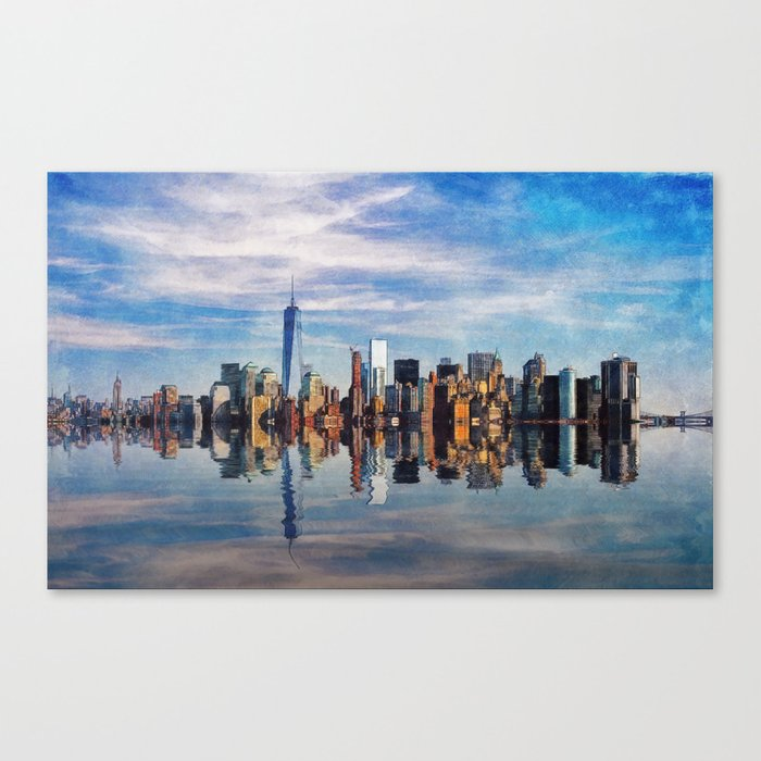 New York Reflections Canvas Print