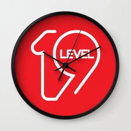 19 LEVEL Wall Clock
