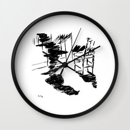 Edouard Manet - The raven by Poe 4 Wall Clock