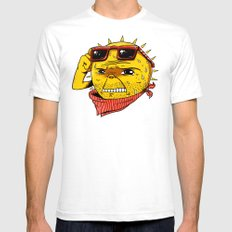 Damn, It's Hot White SMALL Mens Fitted Tee
