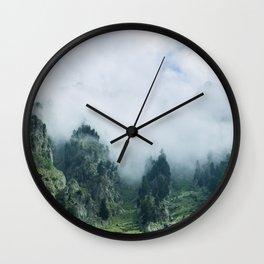 Mountain Morning Wall Clock