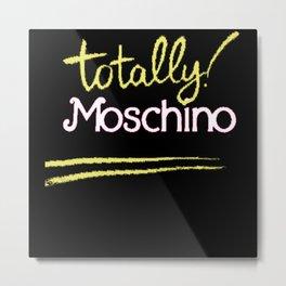 Totally Moschino Black Metal Print