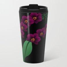 Gloomy Orchid Metal Travel Mug