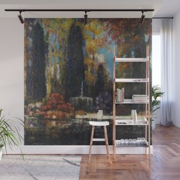 Garden with a Fountain by Thomas Mostyn Wall Mural
