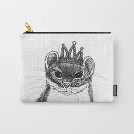 flapper weasel wearing a glittering tiara Carry-All Pouch