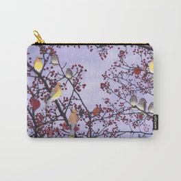 cedar waxwings and berries Carry-All Pouch