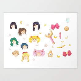 Sailor mug Art Print