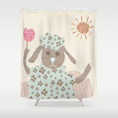 sheep collage Shower Curtain