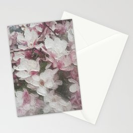 Magnolia Blooms in the Rain Stationery Cards