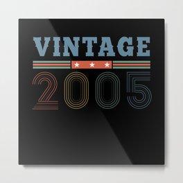 16th birthday, vintage, retro Metal Print