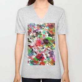 Chaotic Colors of Paint Unisex V-Neck