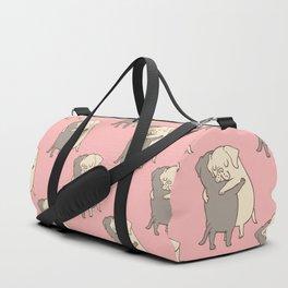 Labrador retriever Hugs Duffle Bag