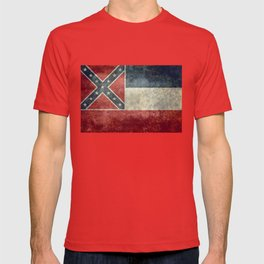 Mississippi State Flag - Distressed version T-shirt