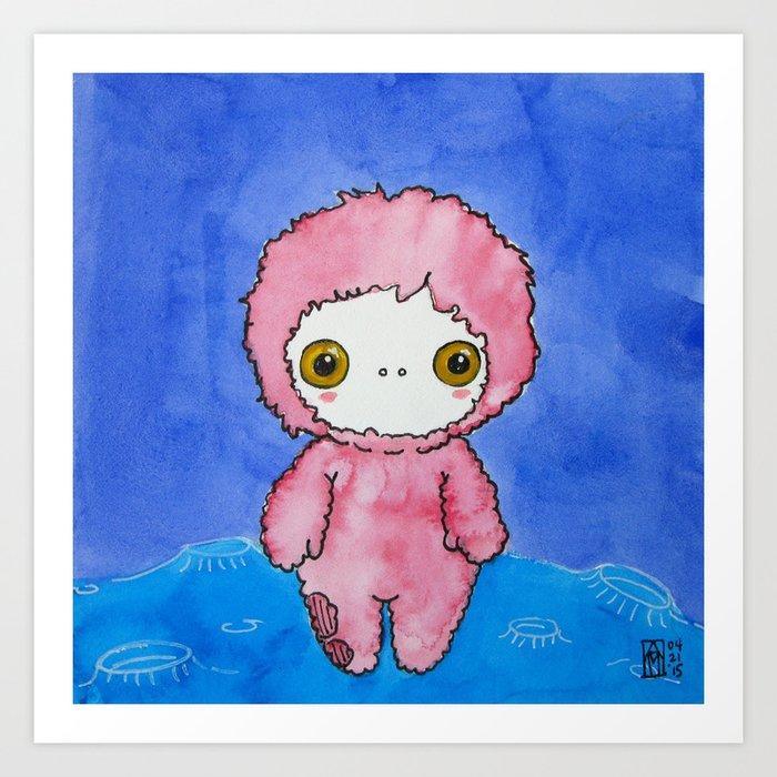 Moonkhin 1 (pink tranquil) Art Print