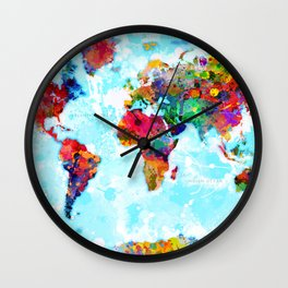World Map - 2 Wall Clock