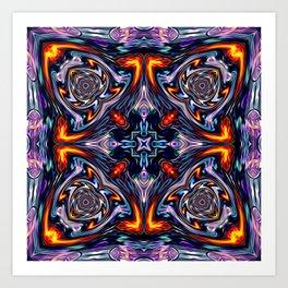 Fire Grid Art Print