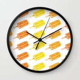 Colorful Popsicles - Summer Pattern Wall Clock