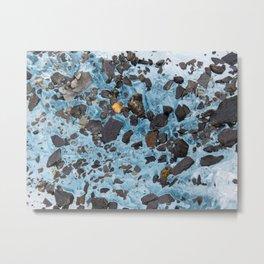 Glacial Gold :: Alaskan Ice Metal Print
