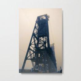 Steel Bridge, Portland, Oregon Metal Print