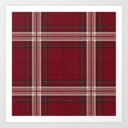Hannibal Will Graham Aperitif Red Plaid Professor Design Art Print