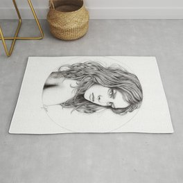 JennyMannoArt Graphite drawing Rug