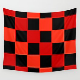 Red & Black Checkers : CheckerBoarD Wall Tapestry