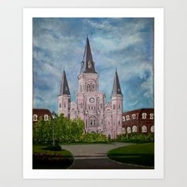St. Louis Cathederal Art Print