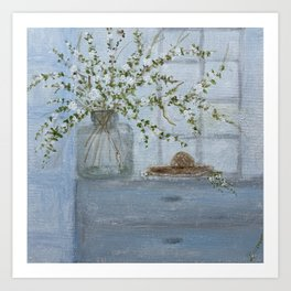 Apple Blossom Branches  Art Print
