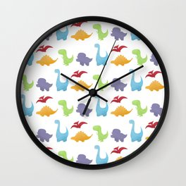 Dinosaur Pattern Wall Clock