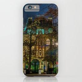 Photos Hamburg Germany Street Night Houses Cities night time Building iPhone Case