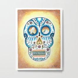 Pacific NW Skull Metal Print