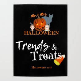 Mr and Mrs Halloween Poster