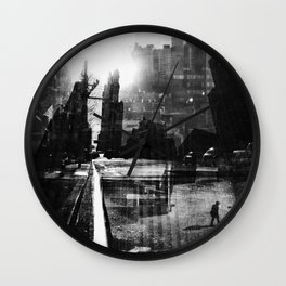 New York Gutter Wall Clock