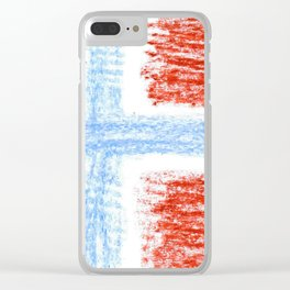 flag of norway 10 – Chalk version  snow,scandinavia,scandinavian,norwegian,oslo Clear iPhone Case