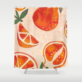 Tangelo Fun Shower Curtain